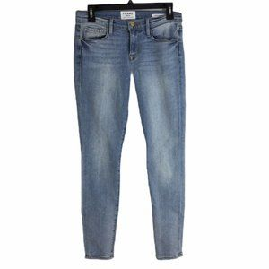 Frame Denim Le Skinny De Jeanne In Adeline Wash
